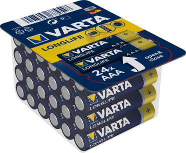 Baterie VARTA LongLife AAA BIG BOX 24szt.